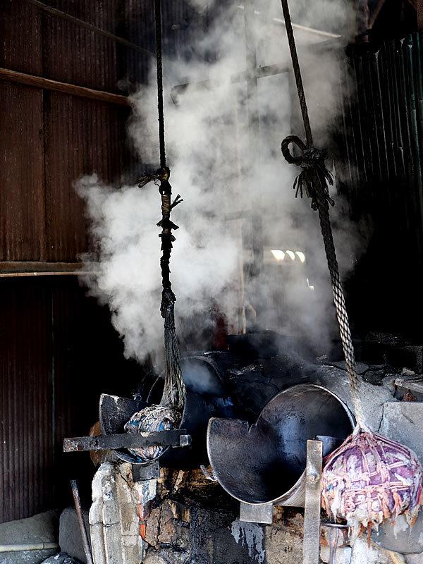 竹材湯抜き釜