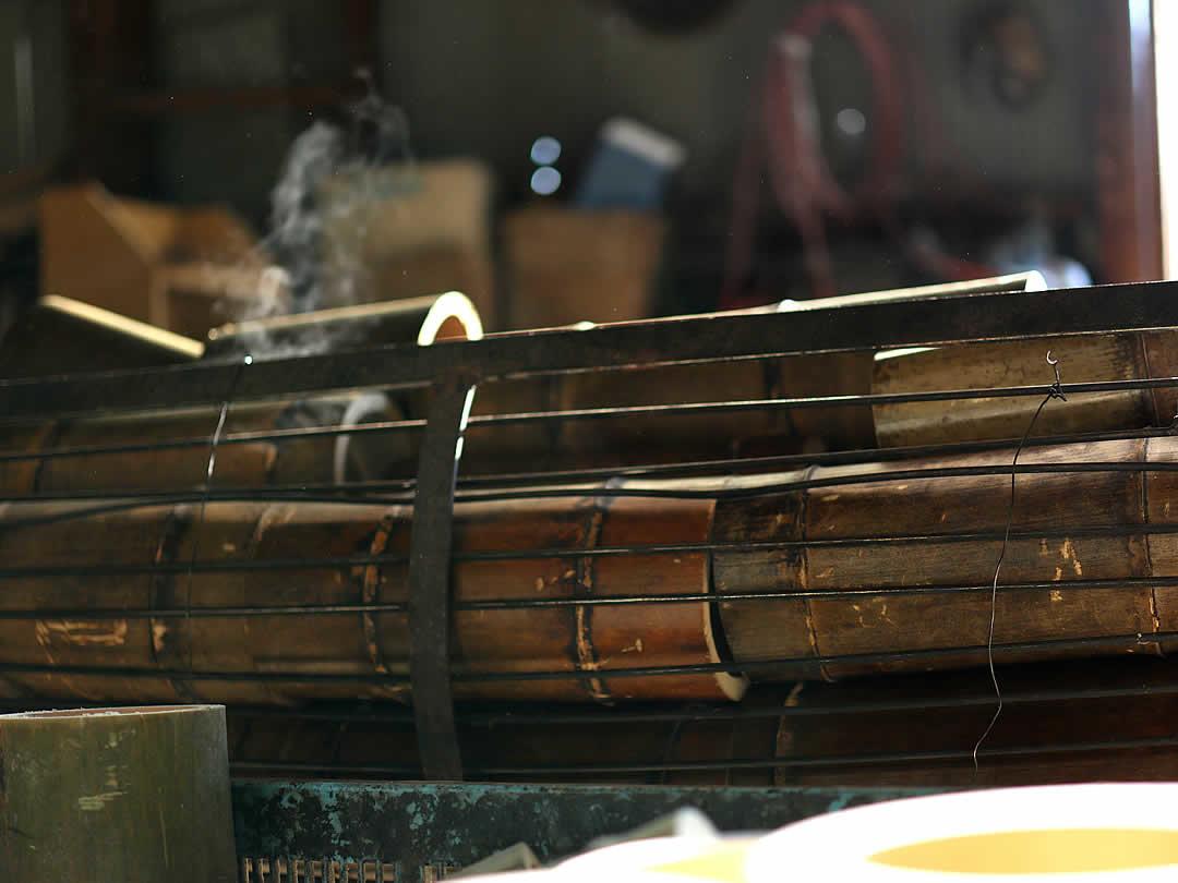 竹首まくら炭化加工