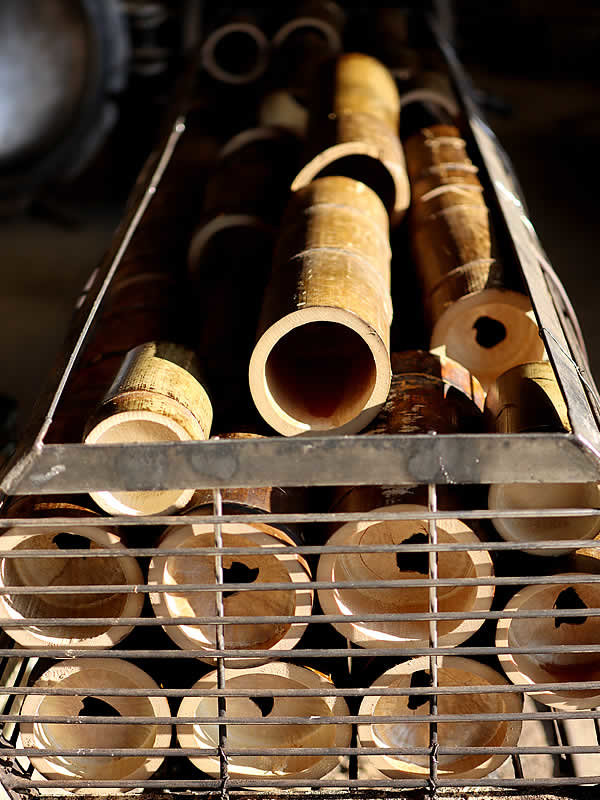 竹首まくら炭化釜