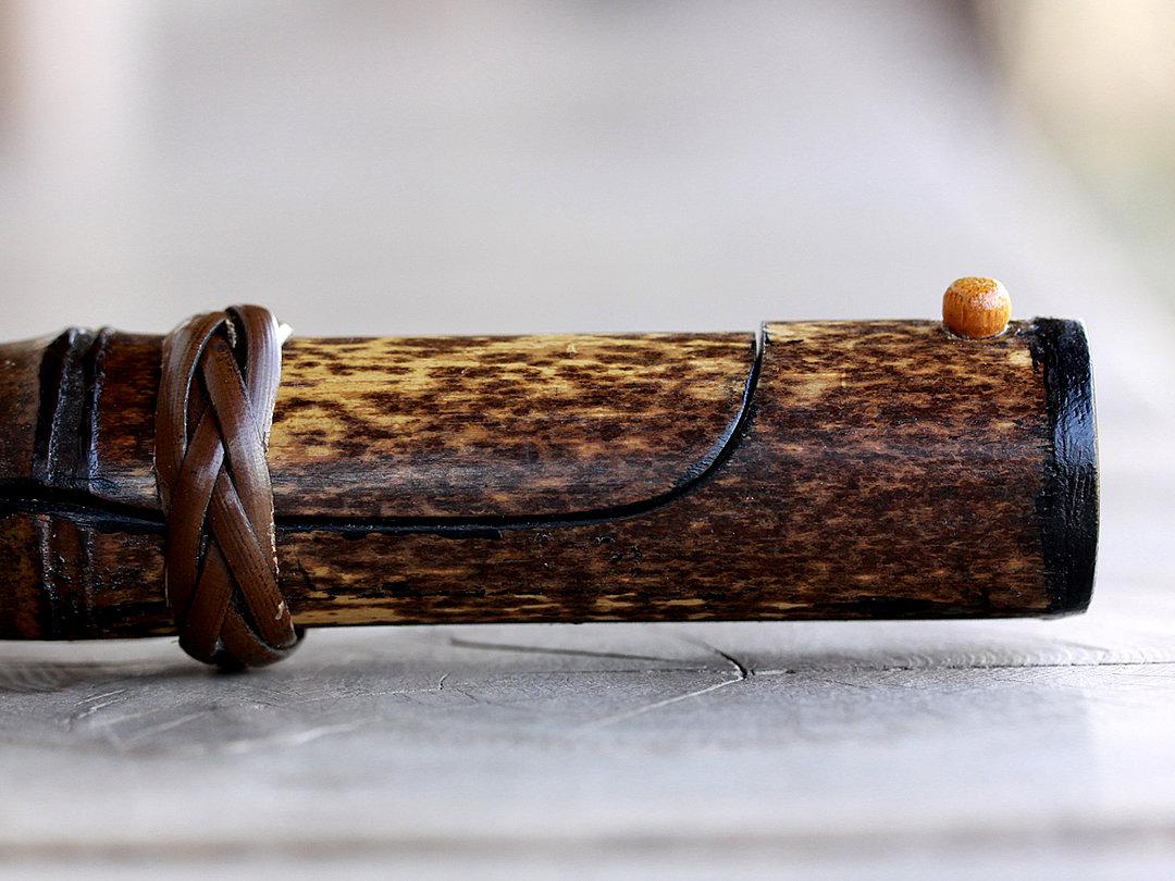 黒竹筒箸箱