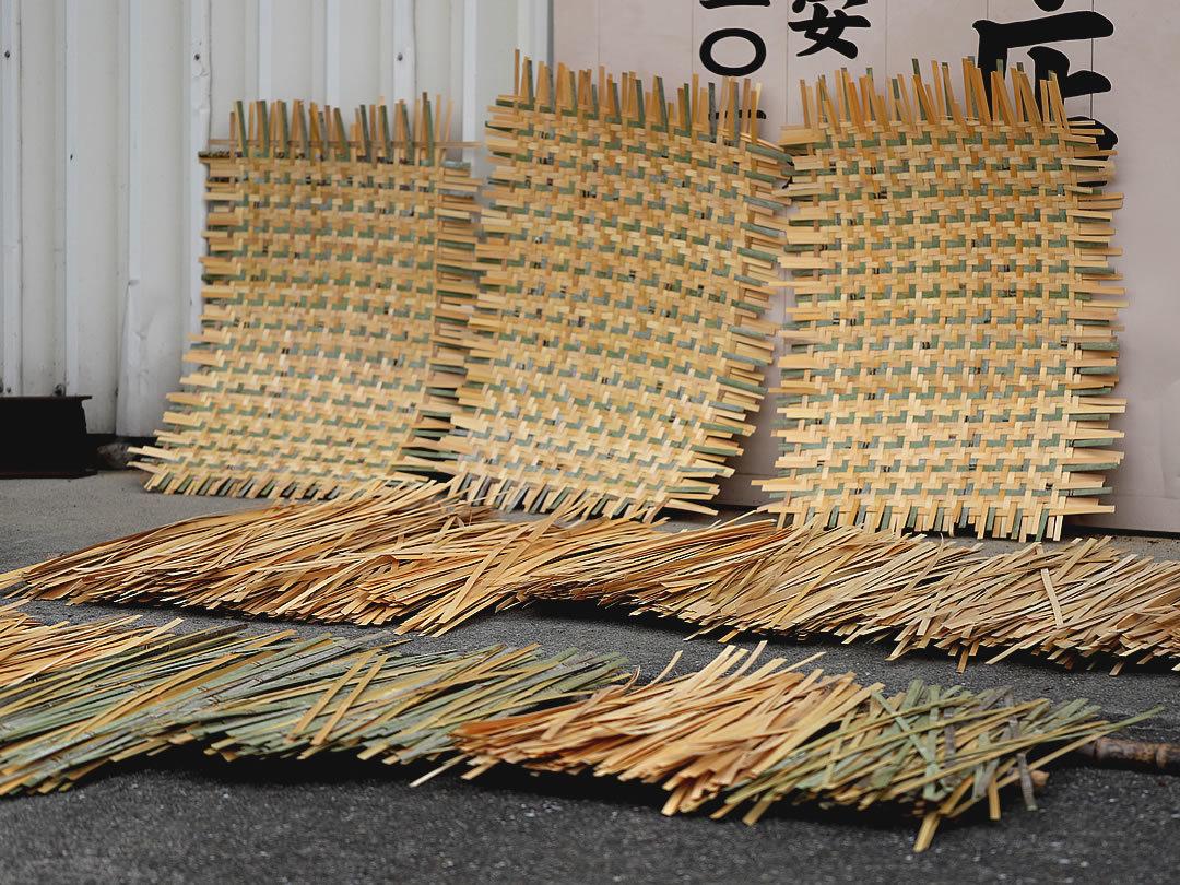 平編み籠材料