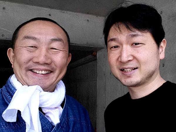 高村雅男さんと竹虎四代目(山岸義浩)