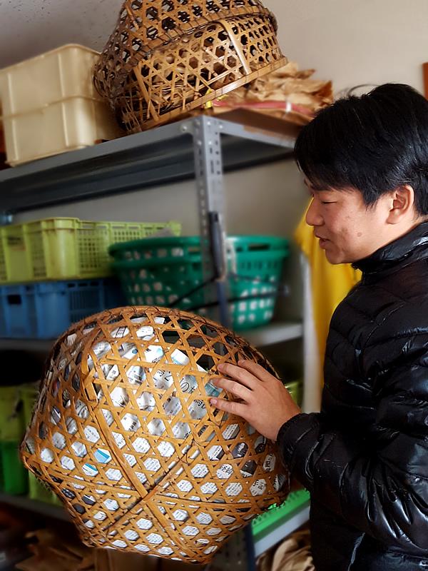 漆工房の茶碗籠