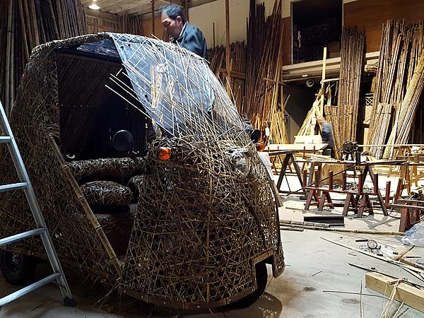 日本唯一の虎竹自動車(Tiger Bamboo car)製造
