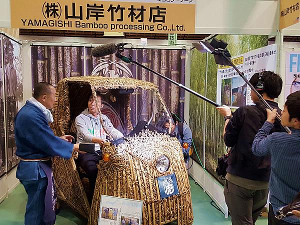 第五回ものづくり総合技術展の竹電気自動車「竹トラッカー」