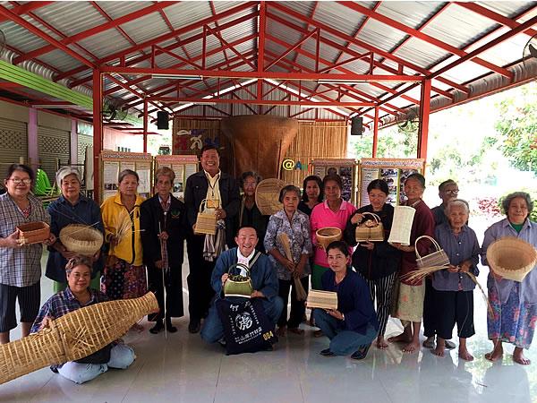 Ang Thong, Thailandの竹職人