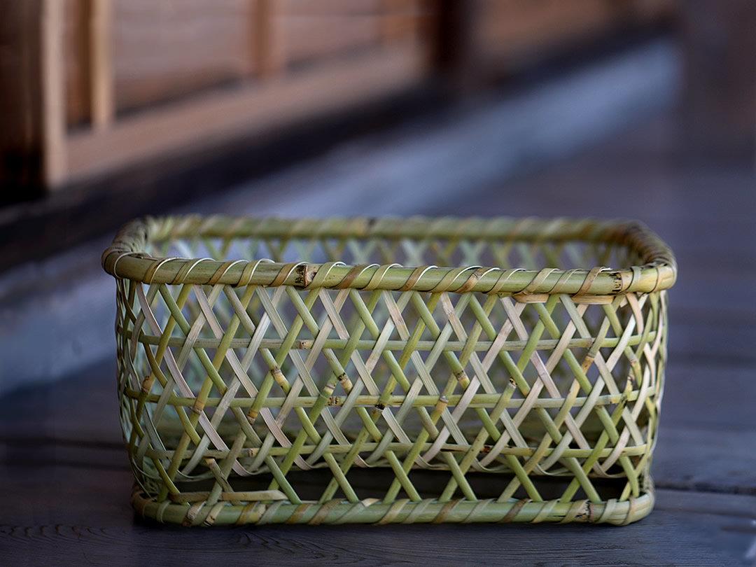 根曲竹茶碗籠