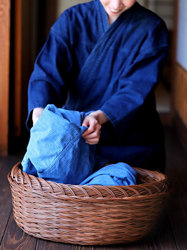 シダ編み脱衣籠
