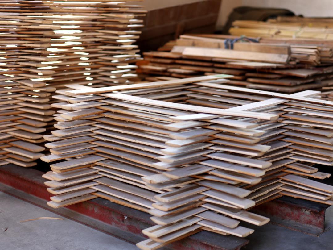 竹カトラリー材乾燥