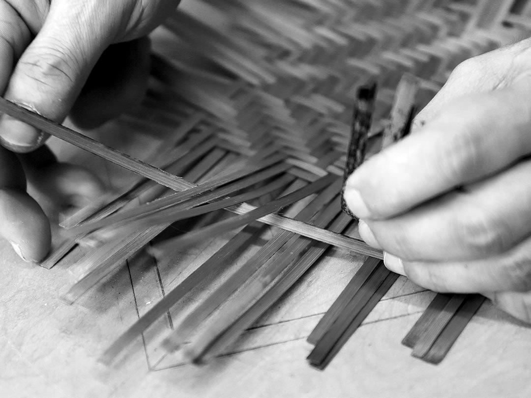 虎竹弁当箱編み込み