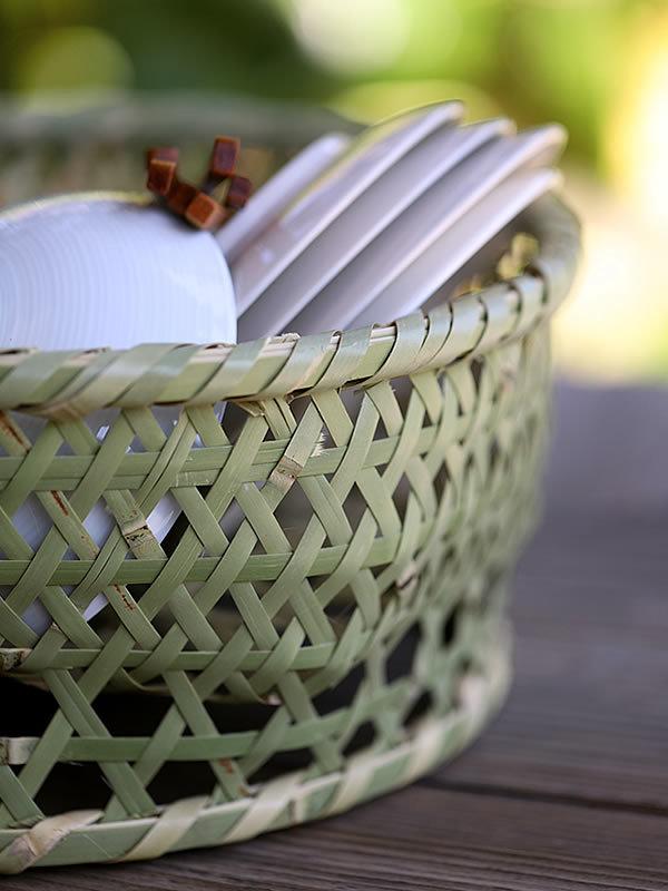 青竹茶碗籠