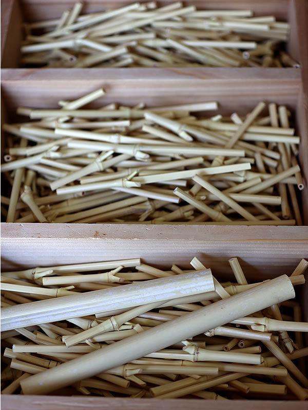 阿波踊り竹人形部材