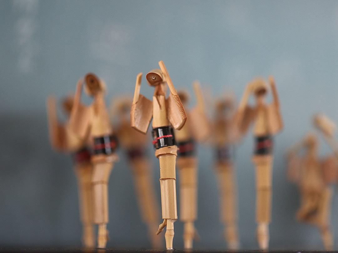 古い阿波踊り竹人形