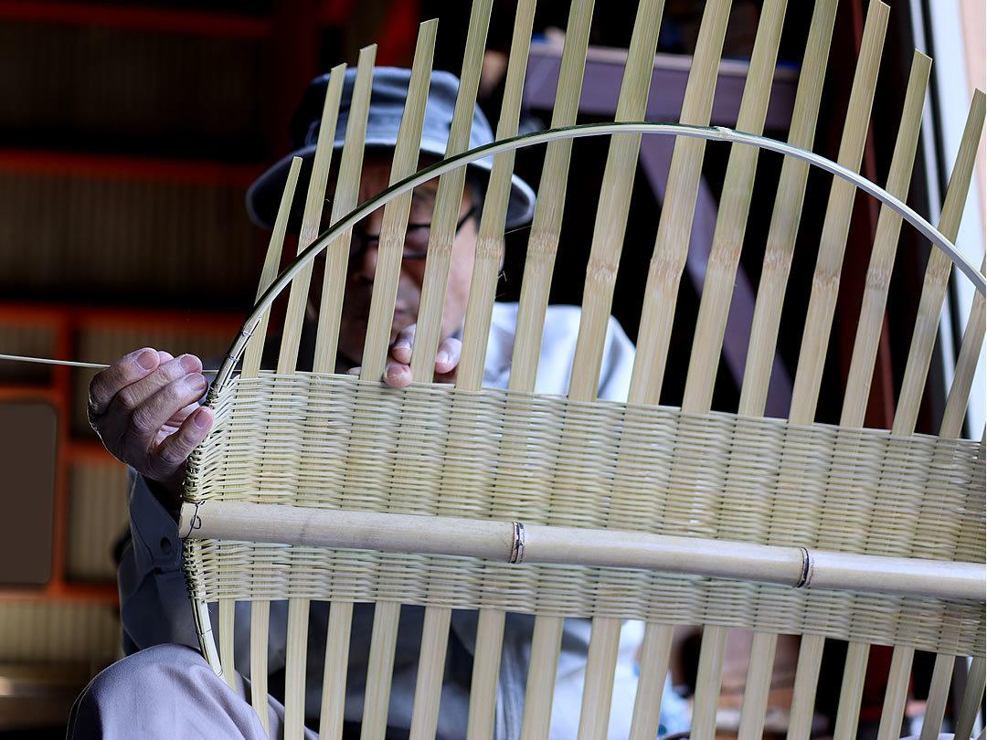 竹ざる製作