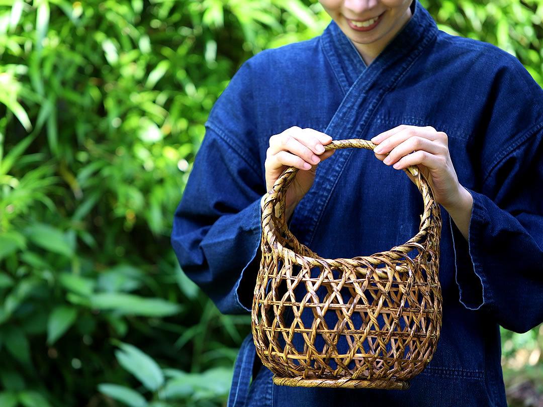 虎竹ネジリコンビニ籠