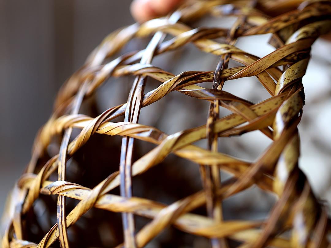 虎竹ネジリ編み