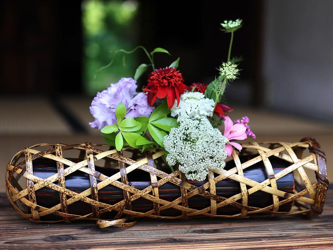 虎竹花籠蛇篭