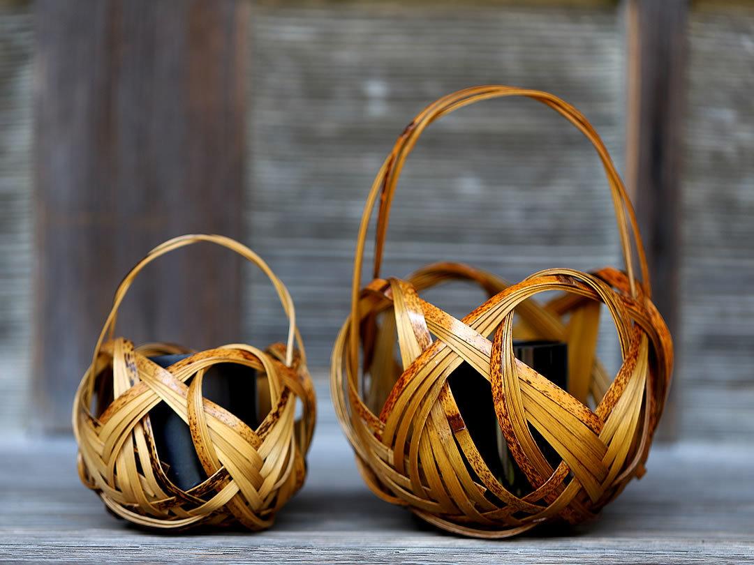 虎竹花籠四海波、Tiger bamboo flower basket