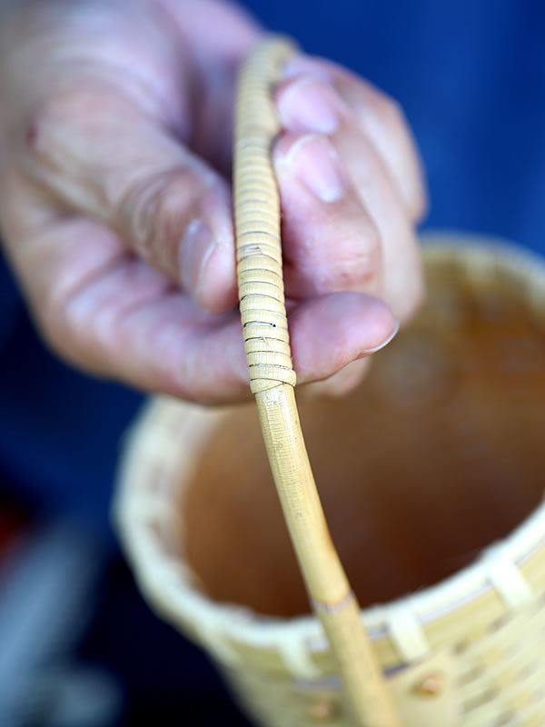 白竹ワインバッグ籐持ち手