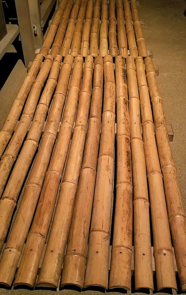 土間の竹簀の子