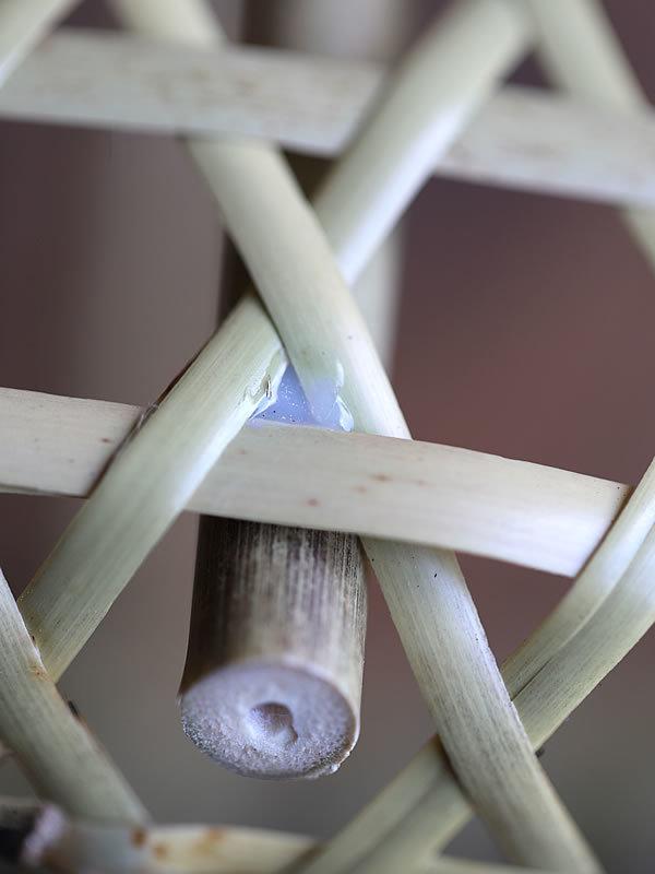 ミニ根曲竹買い物籠接着