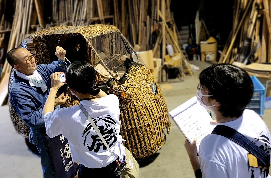 日本唯一の虎竹電気自動車竹トラッカー