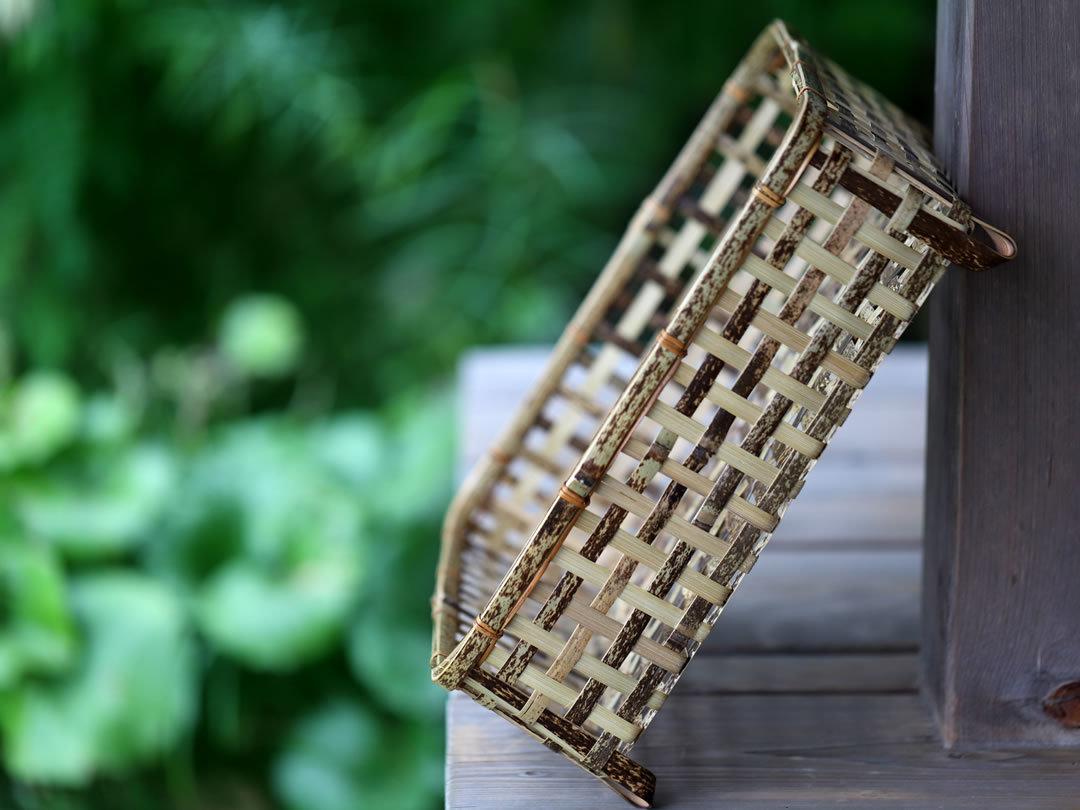 虎竹スクエア茶碗籠
