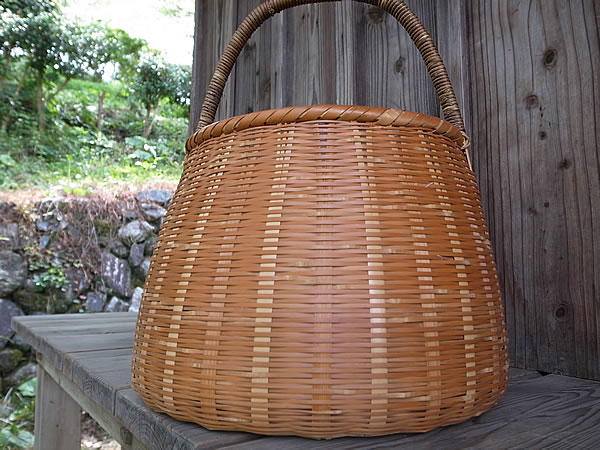 磨き竹かご