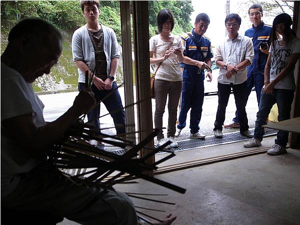 竹編み職人