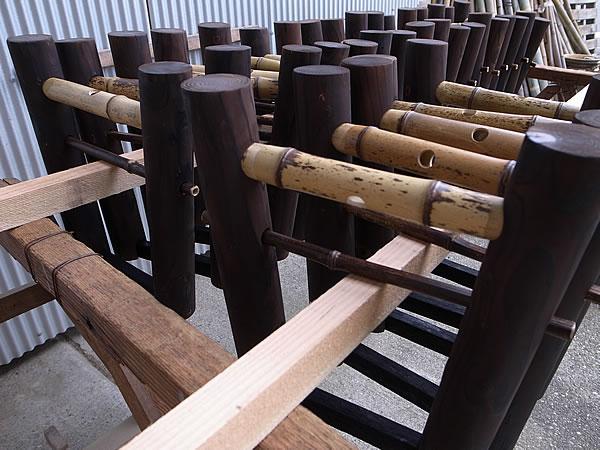 虎竹縁台の足