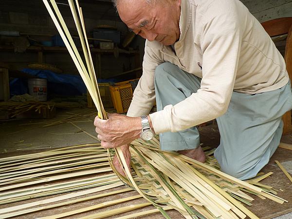 平かご竹編み
