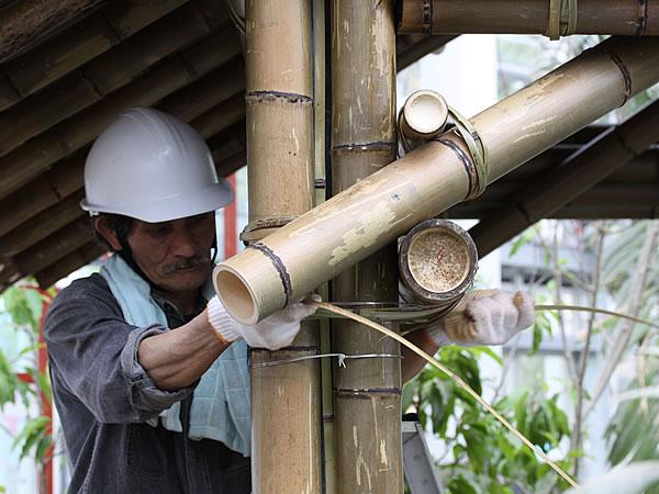竹小屋作業