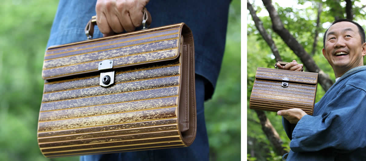 虎竹ハンドバック,バッグ,竹製