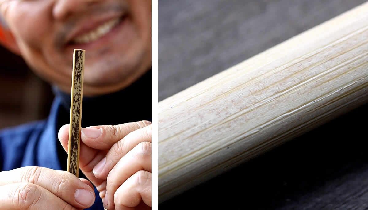 虎竹耳かき、竹表皮