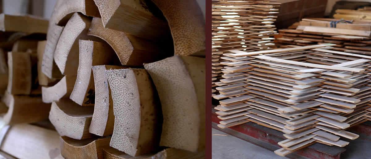 孟宗竹、竹カトラリー材料
