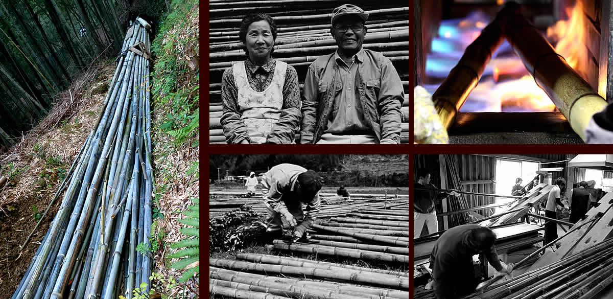 竹職人と虎竹