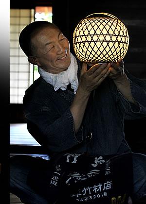 心温まる癒しの竹灯り。
