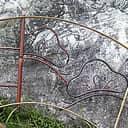 竹枠窓 扇型(松)
