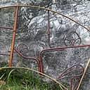 竹枠窓 扇型(梅)