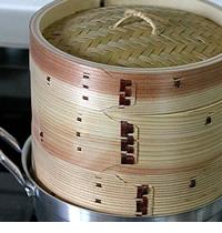 杉蒸篭18センチ2段鍋つきセット