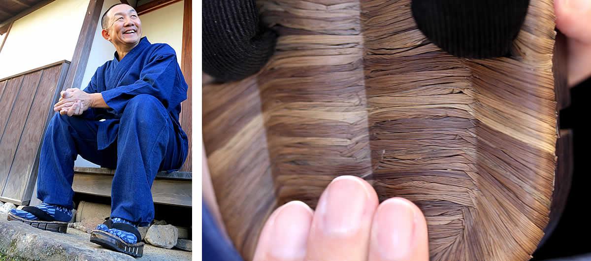 八割BLACK,型押し竹皮