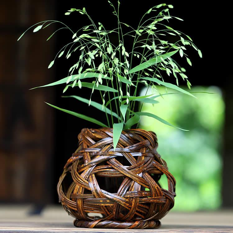 虎竹花籠 しぶき