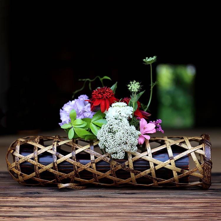虎竹花籠 蛇籠