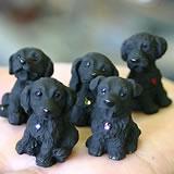 竹炭の犬5匹セット