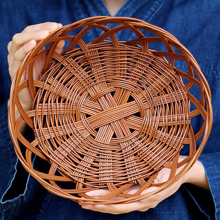 シダ編み食器かご