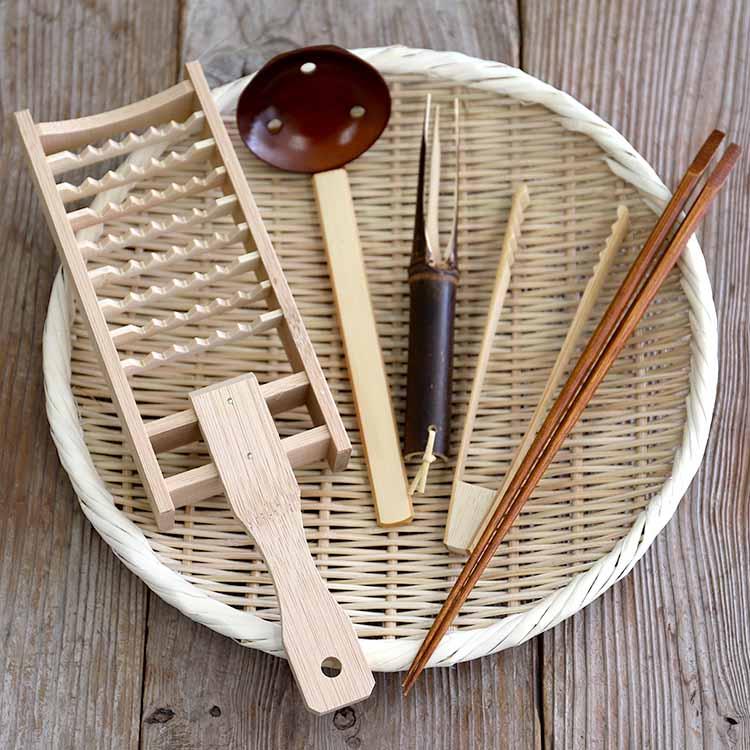 竹の鍋セット