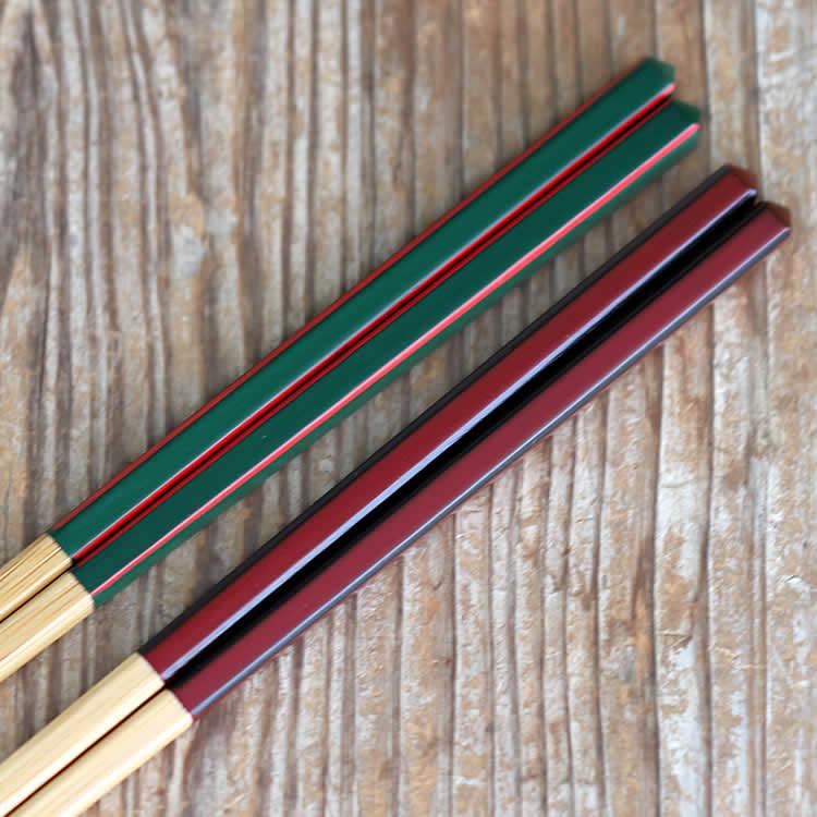 竹角細夫婦箸