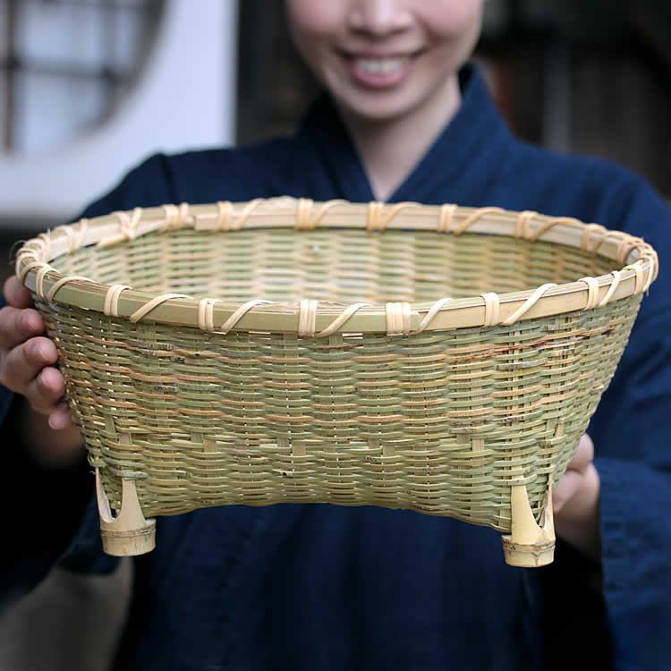 籐巻茶碗籠