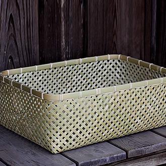 磨き竹衣装籠