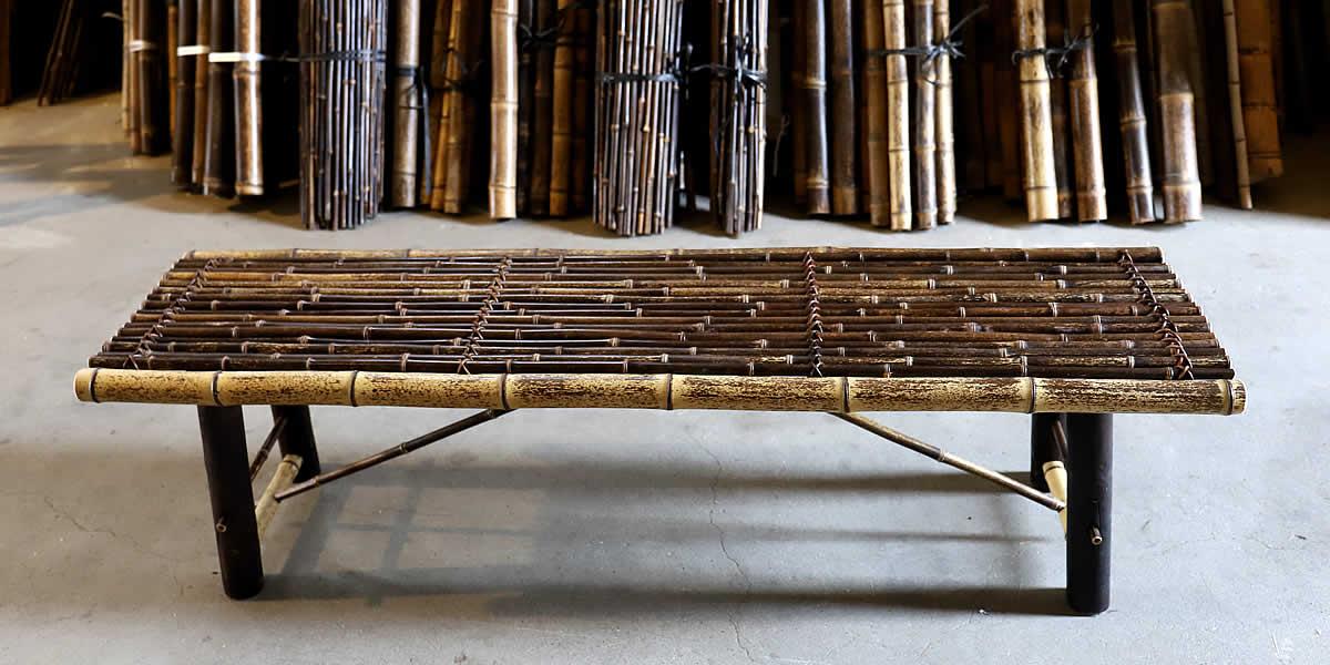 虎竹縁台(折り畳み式)